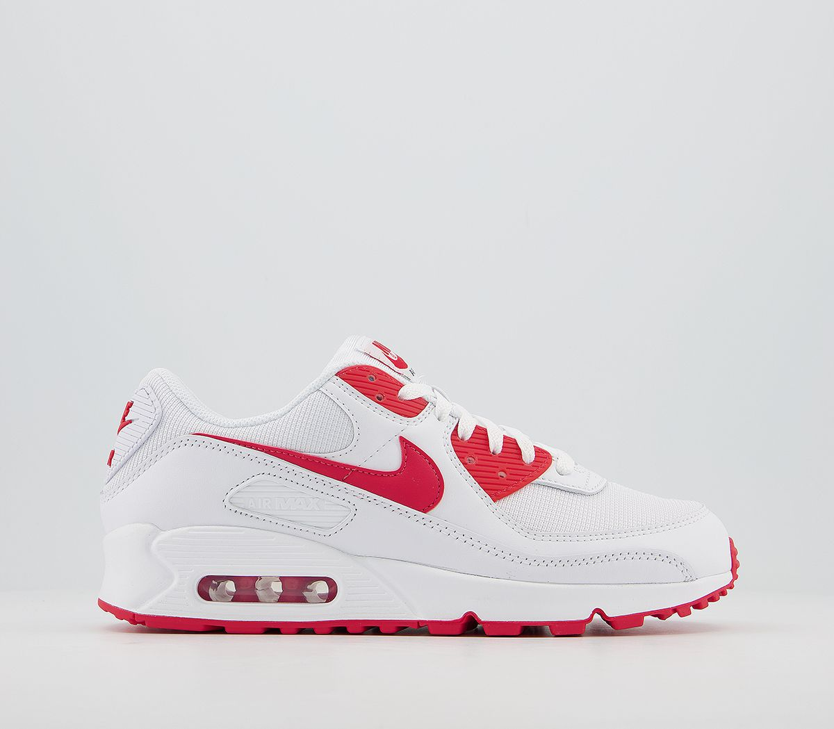 Unisex Nike Air Max 90 Trainers Trainers White Hyper Red Black 2021915334