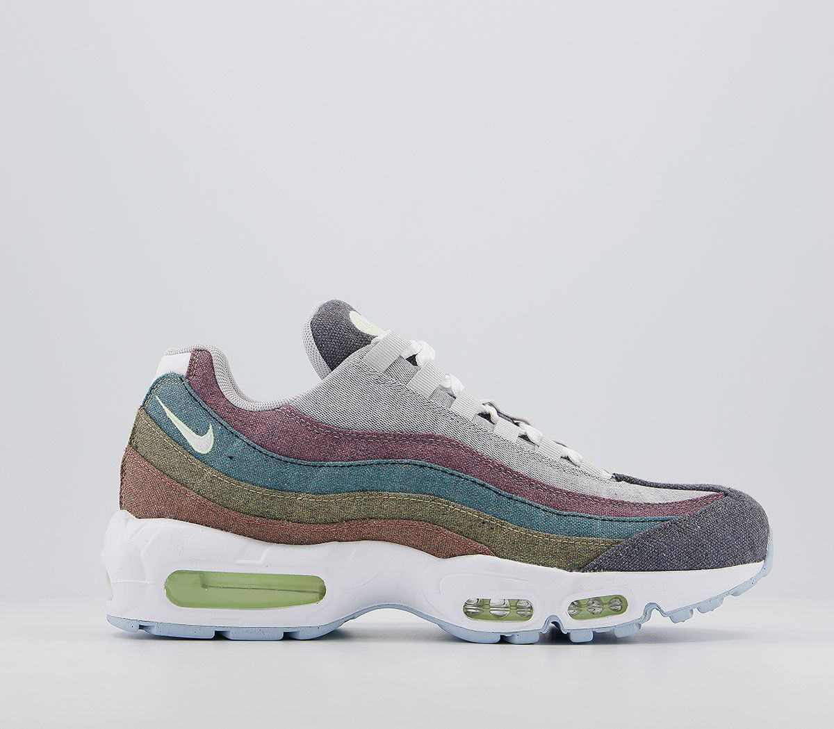Unisex Nike Air Max 95 Trainers Trainers Nrg Vast Grey White Barely Volt Crimson Vast Grey 2026424559