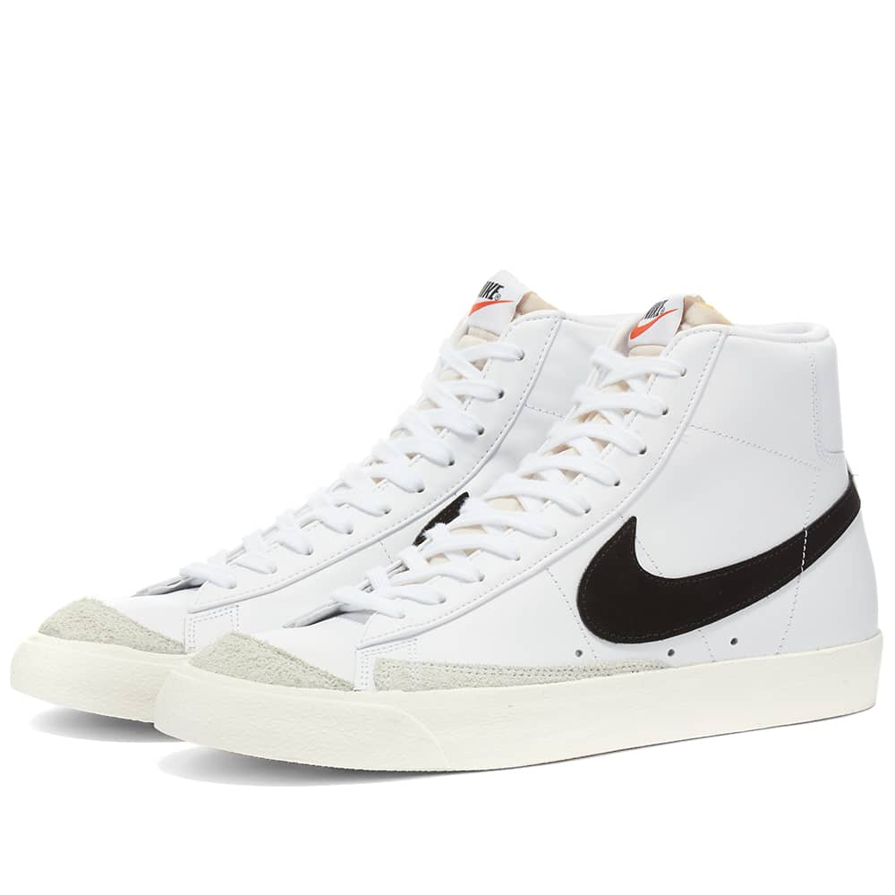 Men NIKE BLAZER MID 77 W Running WHITE & BLACK CZ1055-100
