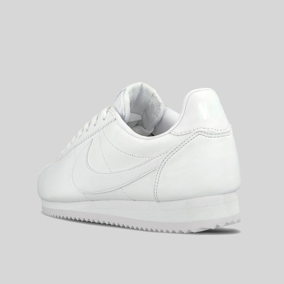 NIKE WMNS CLASSIC CORTEZ ALL WHITE LEATHER Women Running WHITE/WHITE 807471-102