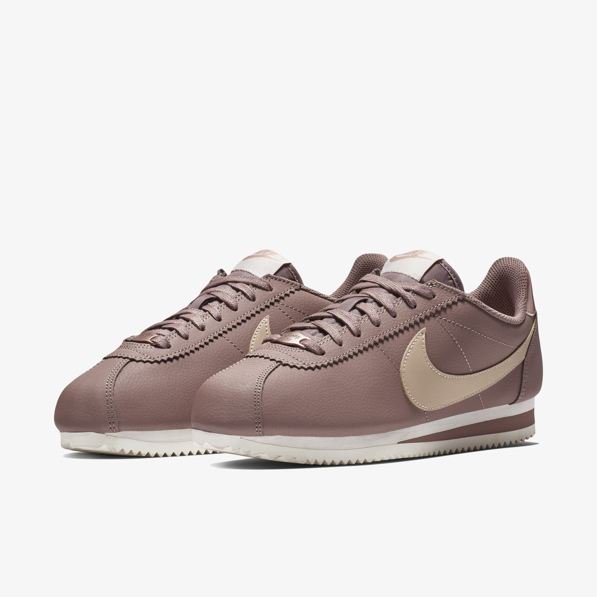 Men NIKE WMNS CLASSIC CORTEZ LEATHER Running SMOKEY MAUVE/PARTICLE BEIGE AV4618-200