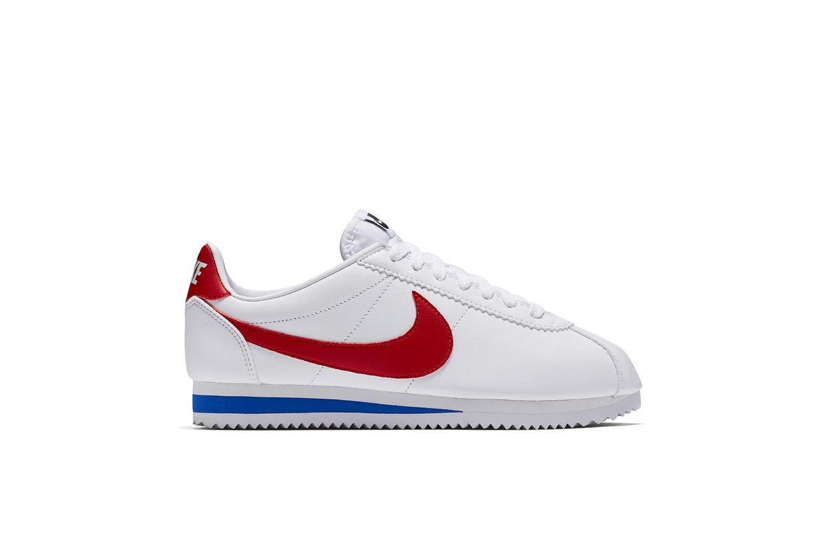 "NIKE WMNS CLASSIC CORTEZ LEATHER ""WHITE"" Women Running White/Varsity Red-Royal 807471-103"