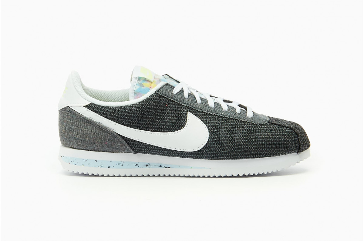 Nike Cortez Basic Premium Running Unisex Iron Grey / White - Barely Volt CQ6663-001