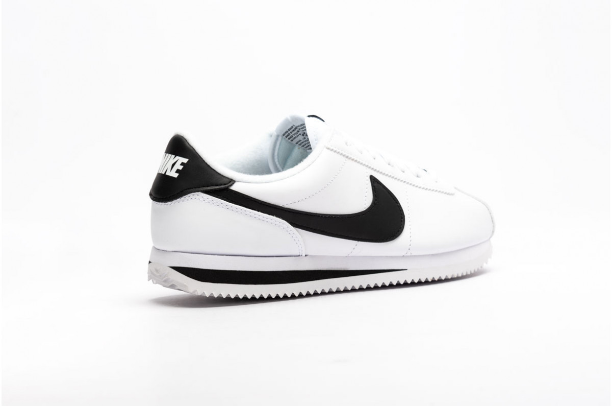 Nike Cortez Basic Leather Running Unisex White / Black - Metallic Silver 819719-100