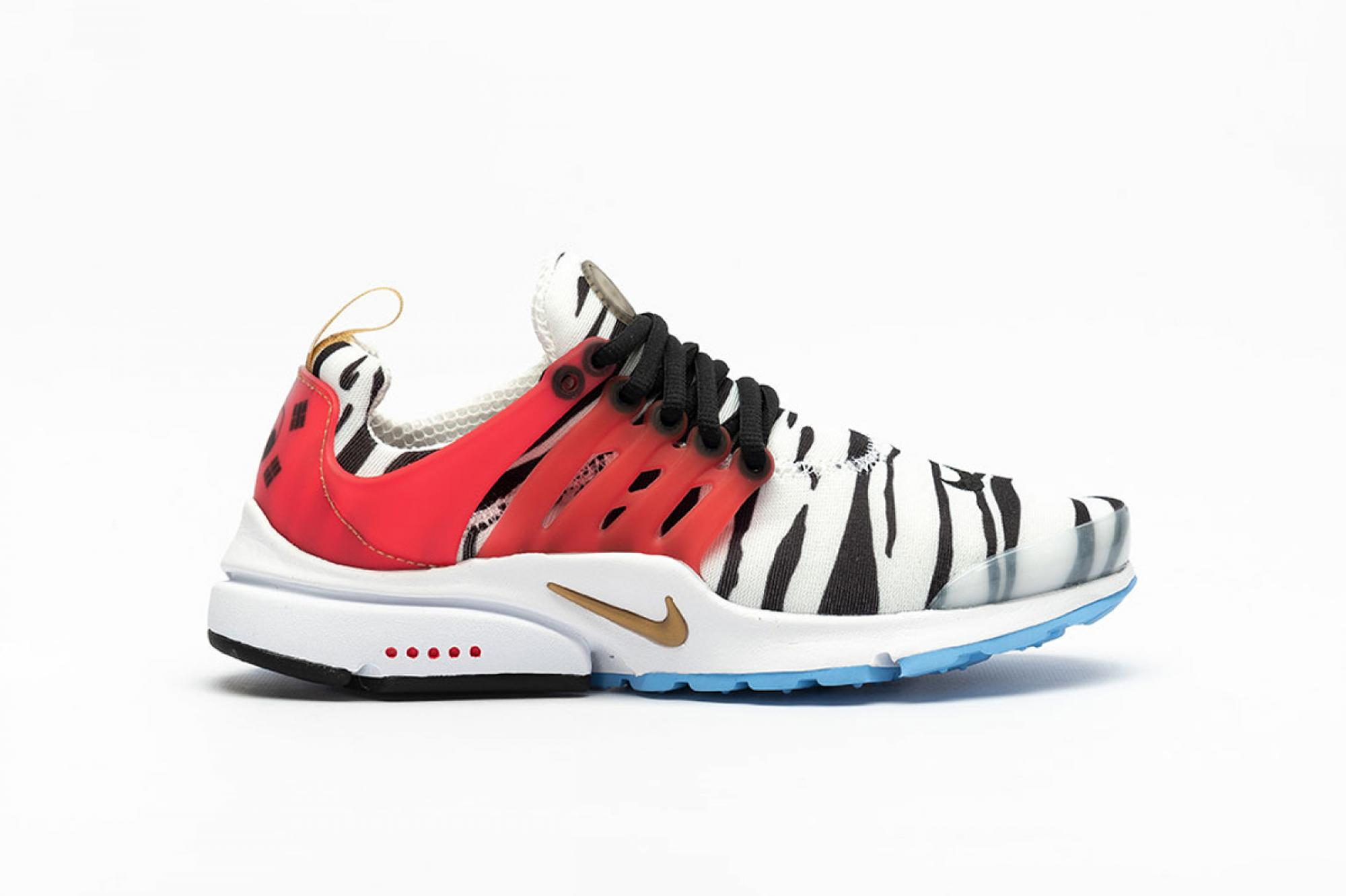 "Offers Online Women Nike Air Presto ""Korea"" Running White / Metallic Gold - Black - Red Orbit CJ1229-100 For Cheap"