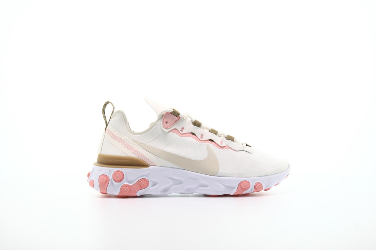 "Women NIKE WMNS REACT ELEMENT 55 ""PHANTOM"" Running Phantom/LtOrewood Brn-ParachuteBeige BQ2728-007"
